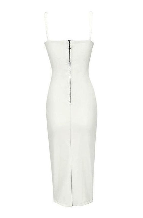 Arabella Leather Dress - White, Dresses, [product_color]