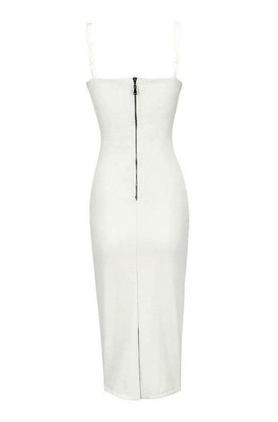 Arabella Leather Dress - White