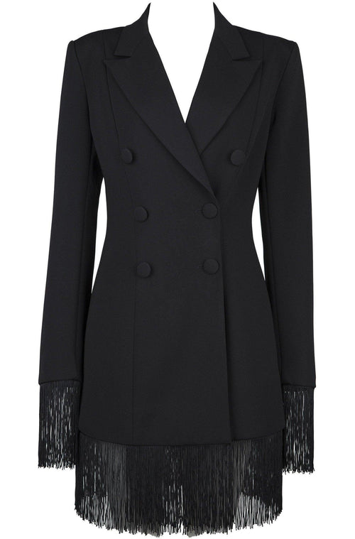 Lila Bodycon Coat - Black, Coat, [product_color]