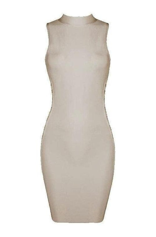 Lucille Bandage Dress - Nude, Dresses, [product_color]
