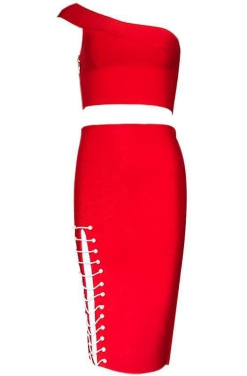 Scarlet Bandage Two-Piece - Red, Two-Pieces, [product_color]