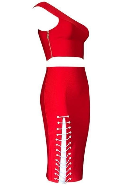 Scarlet Bandage Two-Piece - Red