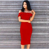 Flora Bandage Dress - Red, Dresses, [product_color]