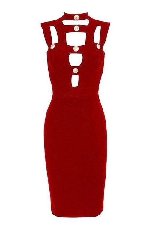 Jade Bandage Dress - Red, Dresses, [product_color]