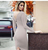 Aida Bandage Dress - Beige, Dresses, [product_color]