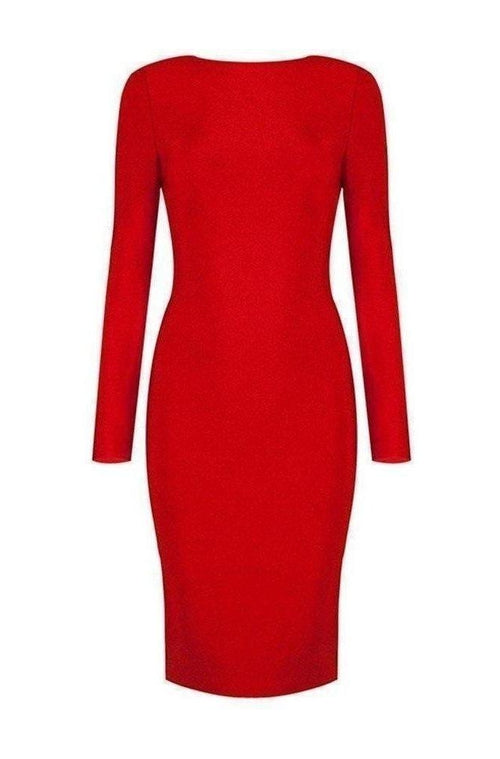 Aida Bandage Dress - Red, Dresses, [product_color]
