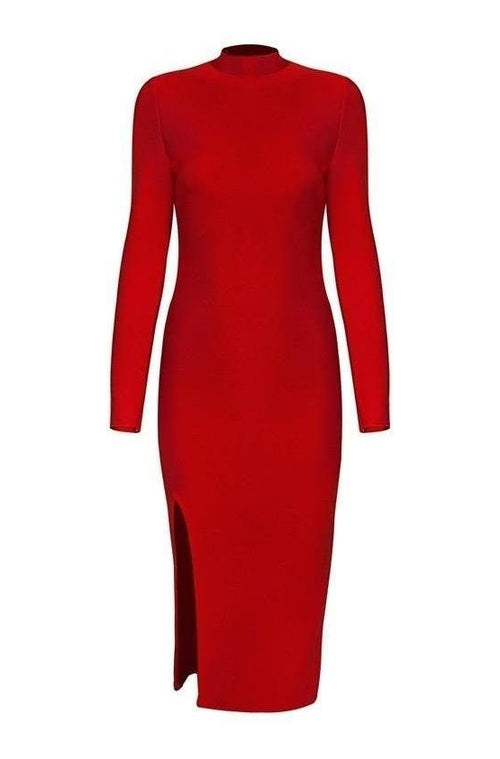 Regina Bandage Dress - Red, Dresses, [product_color]