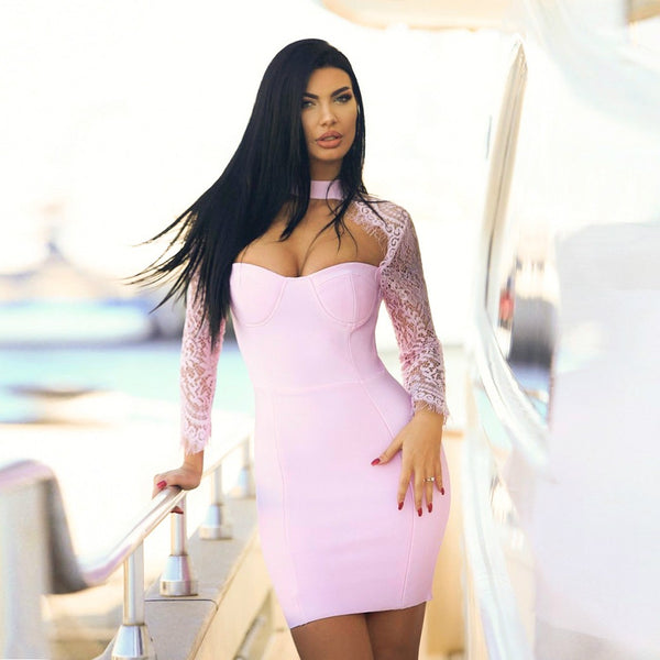 Rue Bandage Dress -Pink, Dresses, [product_color]