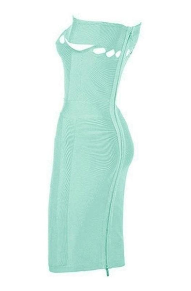Paisley Bandage Dress - Green, Dresses, [product_color]