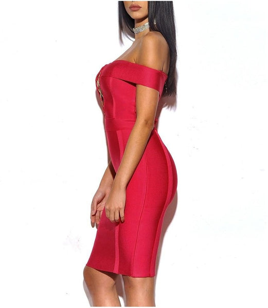 Eden Bandage Dress - Red, Dresses, [product_color]