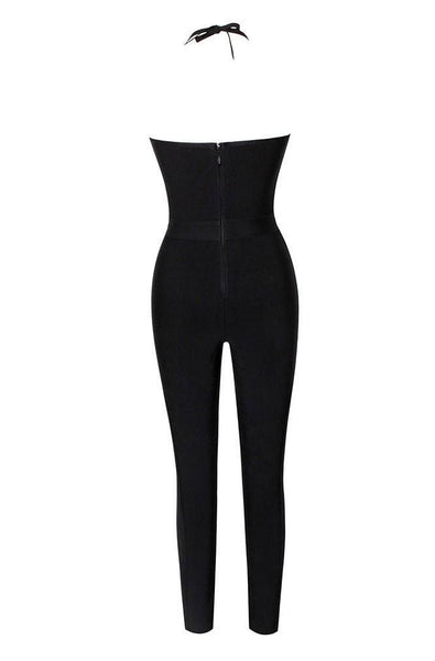 Natasha Bandage Jumpsuit - Black, Jumpsuits, [product_color]