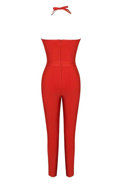 Natasha Bandage Jumpsuit - Red, Jumpsuits, [product_color]