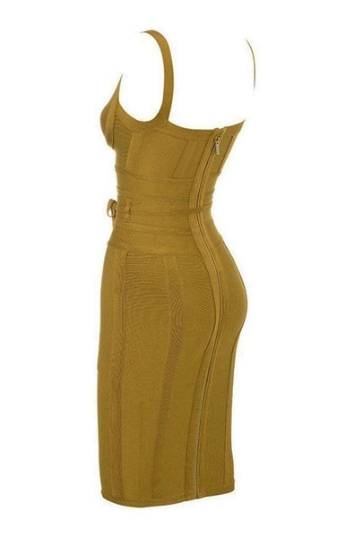 Jimena Bandage Dress - Yellow, Dresses, [product_color]