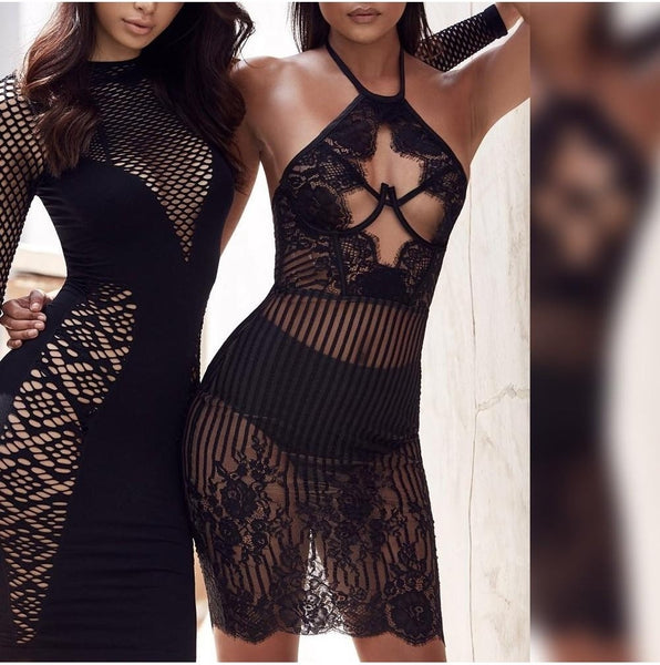 Sweetie Lace Bandage Dress - Black, Dresses, [product_color]
