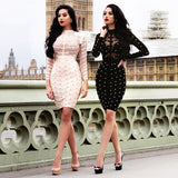 Adele Bandage Dress - Apricot, Dresses, [product_color]