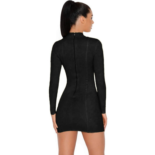 Aliya Bandage Dress - Black, Dresses, [product_color]