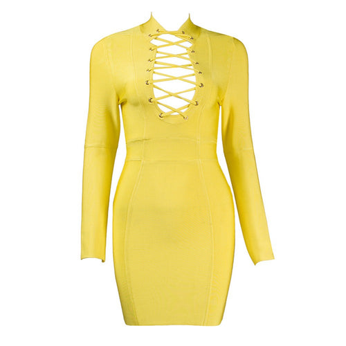 Aliya Bandage Dress - Yellow, Dresses, [product_color]