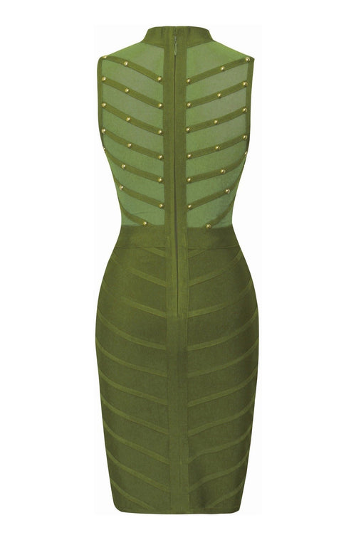 Allison Bandage Dress - Green, Dresses, [product_color]