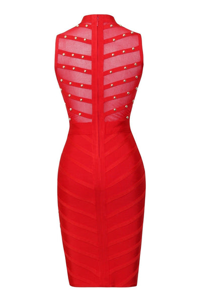 Allison Bandage Dress - Red, Dresses, [product_color]