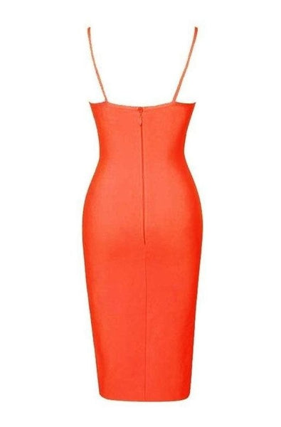 Natalia Bandage Dress - Orange, Dresses, [product_color]