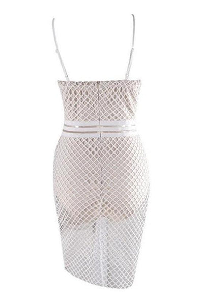 Kira Bandage Dress - White, Dresses, [product_color]