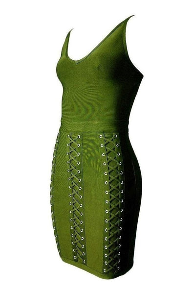 Lorelai Bandage Dress - Green, Dresses, [product_color]