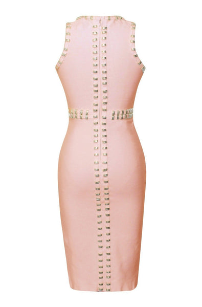 Harlow Bandage Dress - Pink, Dresses, [product_color]