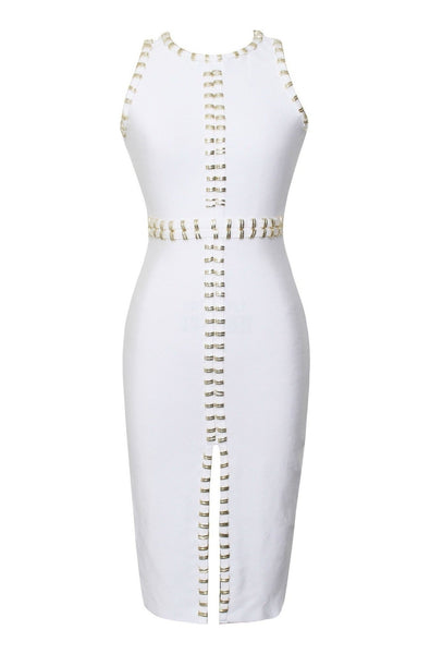 Harlow Bandage Dress - White, Dresses, [product_color]