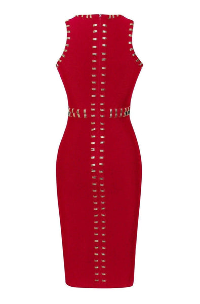 Harlow Bandage Dress - Red, Dresses, [product_color]