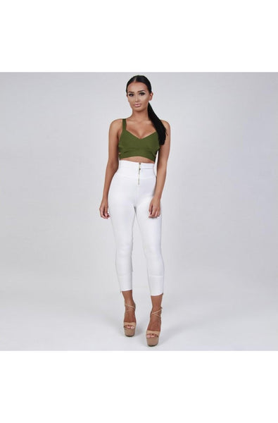 Lorelei Bandage Pants - White, Pants, [product_color]
