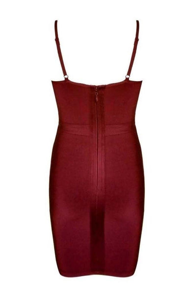 Lorelai Bandage Dress - Wine Red, Dresses, [product_color]