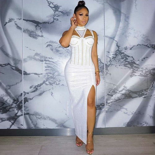 Hecate Bodycon Dress - White, Dresses, [product_color]