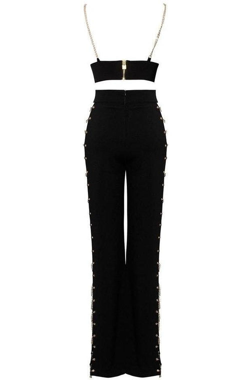 Trinity Two Piece Bodycon Set - Black, Two-Pieces, [product_color]