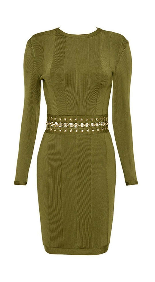 Victoria Bandage Dress - Green, Dresses, [product_color]