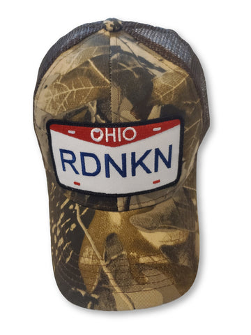 Embroidered Ohio RDNKN Mesh 6 Panel Trucker Hat