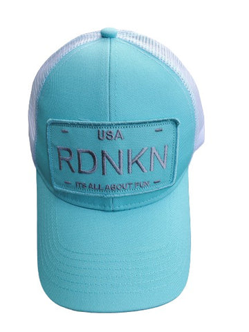 Womens RDNKN High Ponytail Mesh Hat  (Teal)