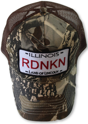 Embroidered Illinois Mesh Trucker Hat