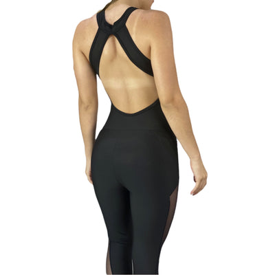Black Zipper Jumpsuit