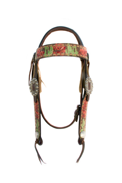 Cactus Rose Headstall