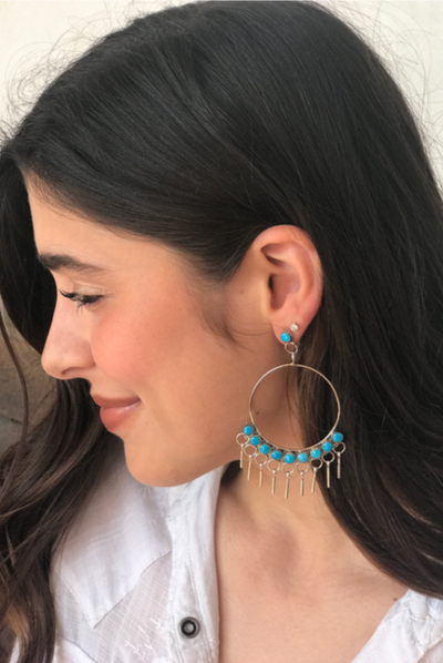 Gypsy Silver Turquoise Earring