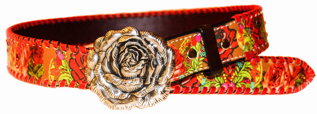 Annie Rose 2 Rodeo Belt w/Red Lace