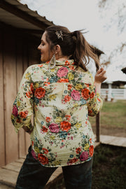 Primrose Floral Button Up