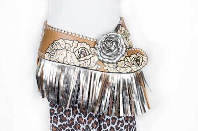 CA Callie w/ fringe Kids Rodeo Belt