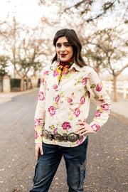 Rose Bud Button Up