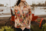Marigold Floral Button Up