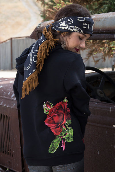 Holly Rose Sweatshirt Black