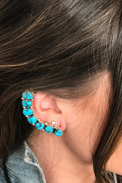 Large Turquoise Ear Cuff