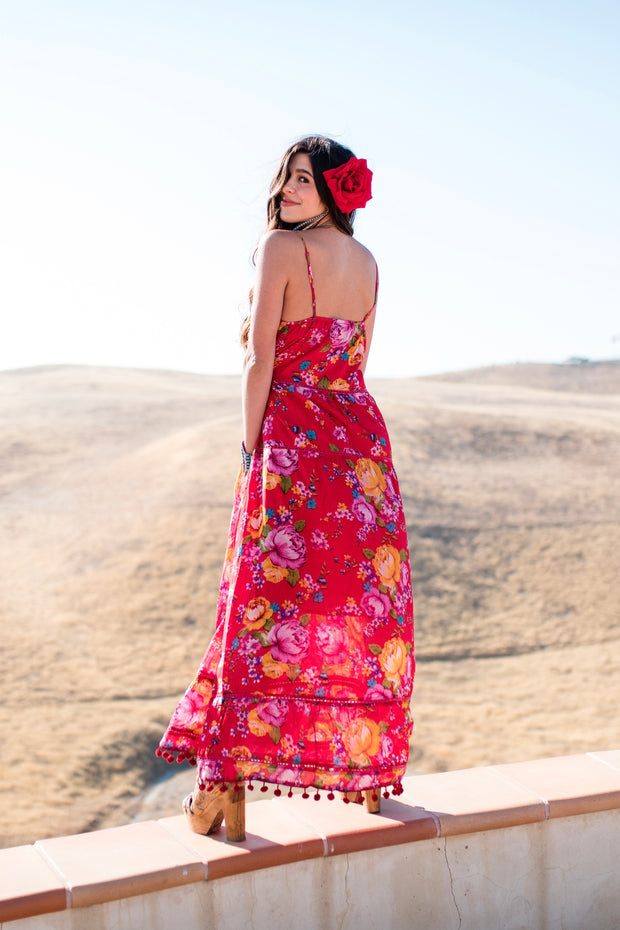 Red Floral Dancer Dress