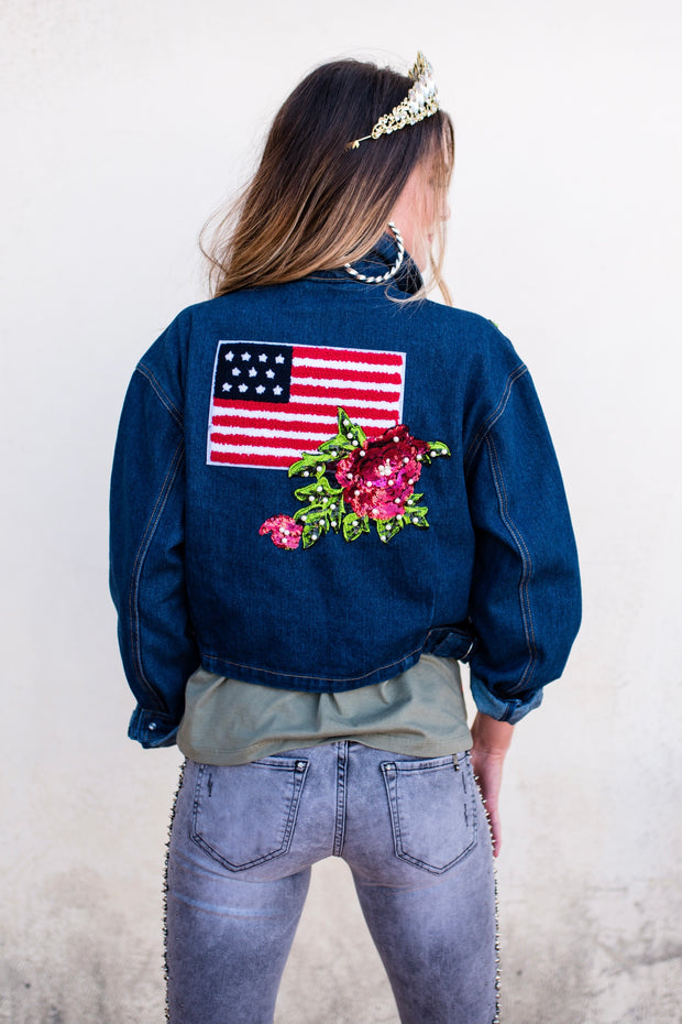 Love You America Denim Jacket
