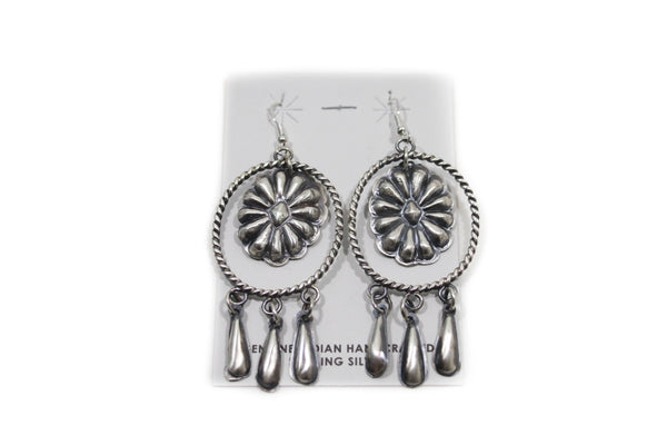 Sterling Silver Round Rope Earrings